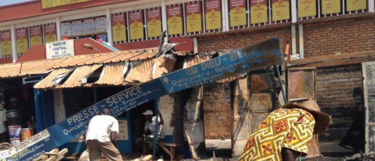 Article : Bangui: un énième incendie au marché central